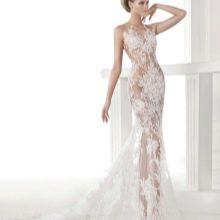Полупрозрачное свадебное платье от Проновиас