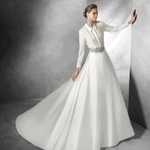 Свадебное платье в рубашечном стиле от Проновиас