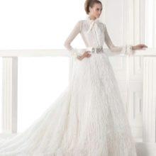 Свадебное платье рубашечного кроя
