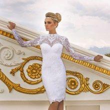 Белое короткое свадебное платье