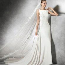 Свадебное платье от Проновиас прямое