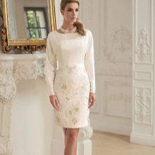 Короткое свадебное платье от Татьяны Каплун