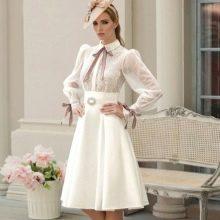 Короткое свадебное платье пышное от Татьяны Каплун