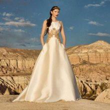 Свадебное платье от Tulipia  с золотой вышевкой