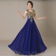 Синеее вечернее платье из Китая