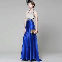 Бело-синее вечернее платье из Китая