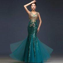 Полупрозрачное вечернее платье из Китая
