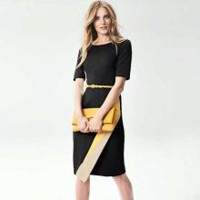 Асимметричное платье черно белой расцветки