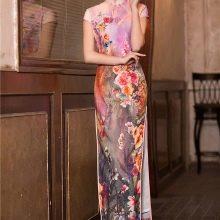 Платье чеонгсам миди
