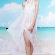 Платье саронг белое