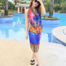 Платье саронг цветное