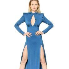 Длинное платье из вискозы с добавкой полиэстера