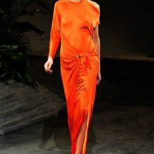 Длинное асимметричное платье на одно плечо из вискозы и полиэстера