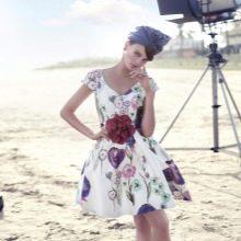 Цветастое платье в стиле стиляг