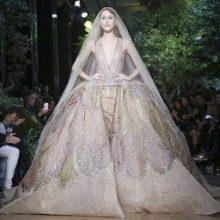 Свадебное платье в стиле барокко с принтом