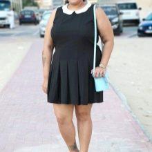 Плиссированное платье для полных девушек