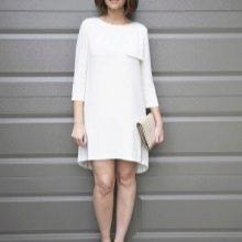 Платье-мешок с асимметричным подолом