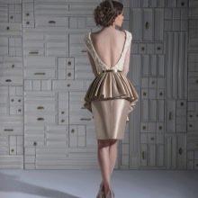 Прическа под платье с открытой спиной