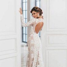f40e8275655 Платье с открытой спиной из кружева