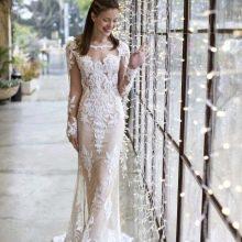 Подвенечное платье с прозрачными рукавами