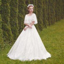 Подвенечное платье со свободными рукавами
