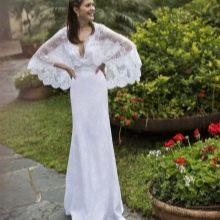 Подвенечное платье с широкими рукавами