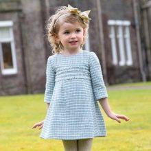 Твидовое платье для девочек 3-5 лет