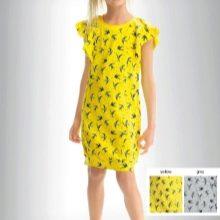 Летнее желтое платье для девочек