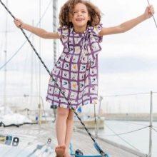 Летнее платье для девочек в клеточку