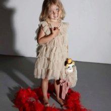 Нарядное платье для девочки 4-5 лет с воланами