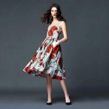 платье из поплина в горошек