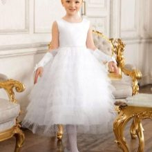 Выпускное платье в детский сад белое пышное