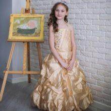 Выпускное платье в детский сад кремовое