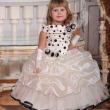 Выпускное платье в детский сад бежевое