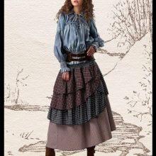 многослойная юбка с воланами