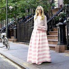 Длинная юбка полусолнце для девушек с фигурой перевернутый треугольник