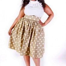 пышная юбка-миди для полных женщин