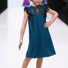 Новогоднее платье-трапеция для девочки