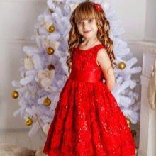 Новогоднее платье для девочки красное