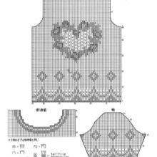 Схема с филейным узром топа к платью из фатина