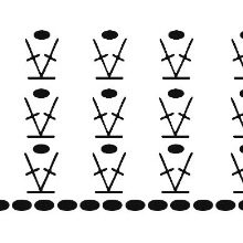 Схема топа к платью из фатина