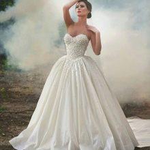 пышное свадебное платье из тафты
