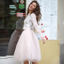 воздушная юбка-миди