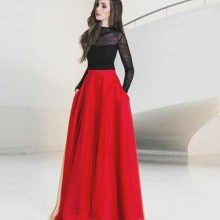 Красная юбка солнце в пол