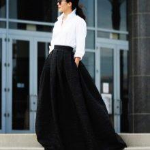 Черная юбка солнце в пол