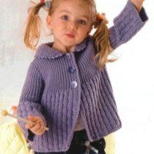 вязаная кофта для девочки 111 фото как связать из травки для
