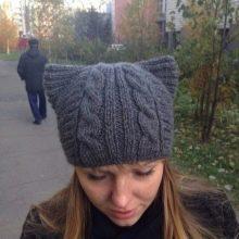 шапка с кошачьими ушками 82 фото модные зимние норковые шапки с