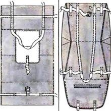 Выкройка сумки на тележку