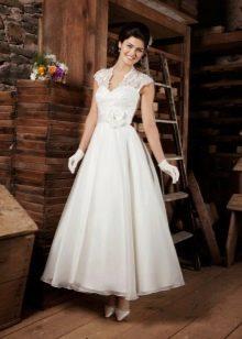 Свадебное платье по щиколотку