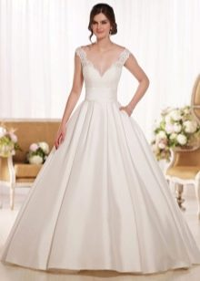 свадебного платье в пол со шлейфом
